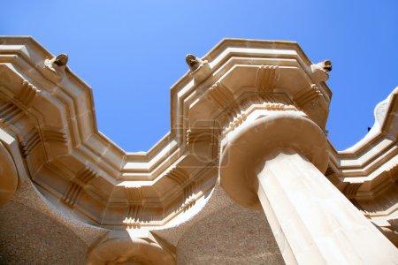 Hundred Columns Chamber Barcelona Park Guell