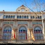 Barcelona Gran Teatro del Liceo Liceu facade in ra...
