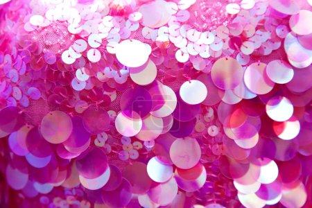 Pink sequins pattern texture background