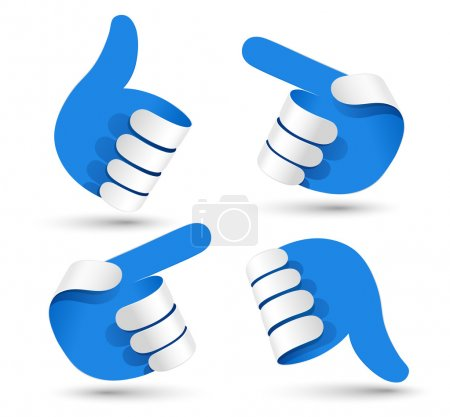 Illustration for Vector illustration paper hands. - Royalty Free Image