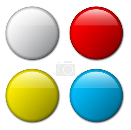 Illustration for Vector blank badge template illustration - four colors - Royalty Free Image