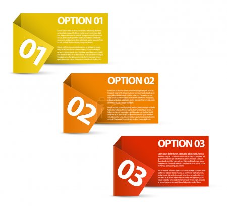 Illustration for Vector Paper Progress background product choice or versions - Royalty Free Image