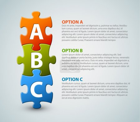 Illustration for ABC - vector progress icons for three steps - Royalty Free Image