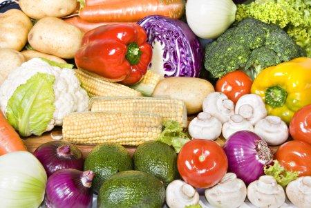świeże warzywa organiczne, gotowe do użycia