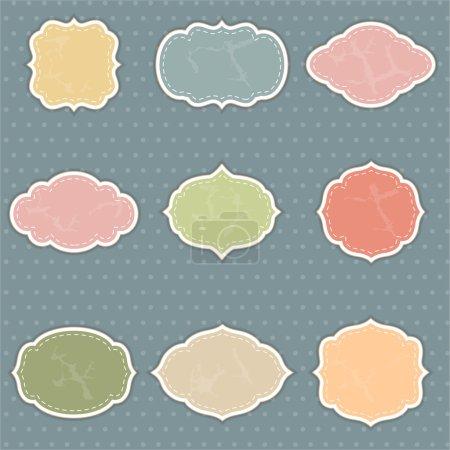 Ilustración de Juego de marcos añejos - Imagen libre de derechos