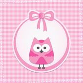 Baby frame with owl vector eps 10