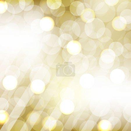 Illustration for Golden Bokeh With Blurred Background, Vector Illustration - Royalty Free Image