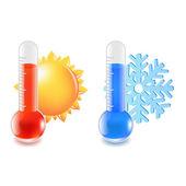 Hőmérő hideg és meleg hőmérséklet