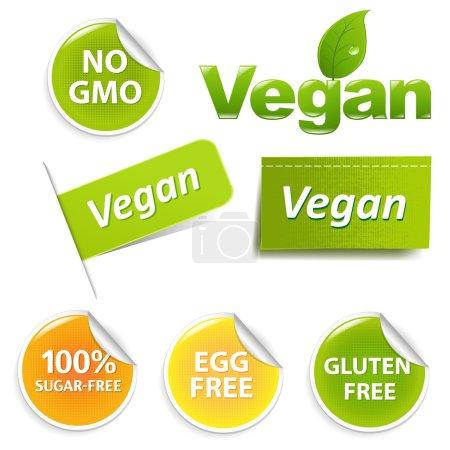 Vegan Labels Set