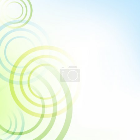 Illustration for Pastel Green And Blue Background With Circles, Vector Illustration - Royalty Free Image