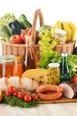 Composición con variedad de productos comestibles