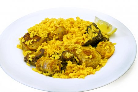 Paella rice chicken and rabbit