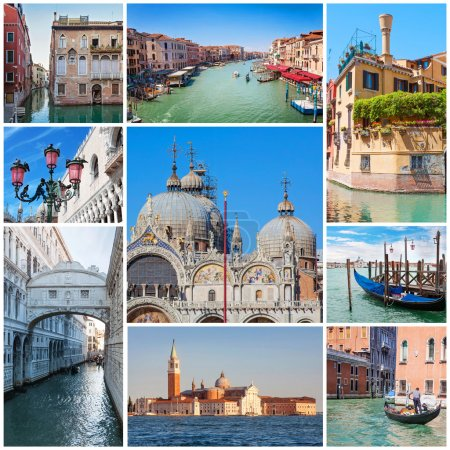 Photo for Collage of images with Venice, Italy. - Royalty Free Image