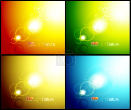 Nature flares abstract backgrounds