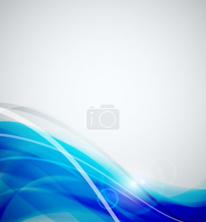 Illustration for Abstract color wave vector background - Royalty Free Image