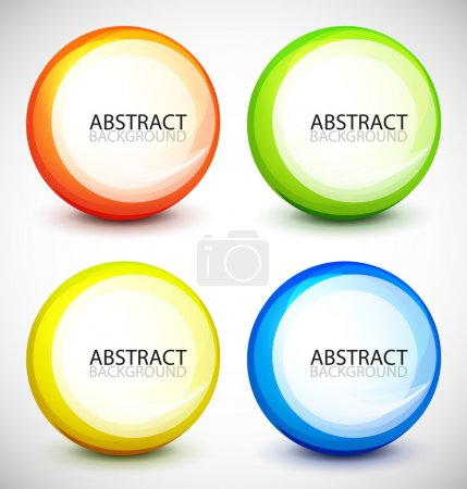 Illustration for Abstract colorful vector shapes with sample text - Royalty Free Image