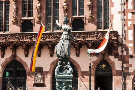 Statue of Lady Justice in front of the Romer in Fr...