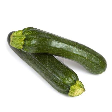 Two Zucchini over White