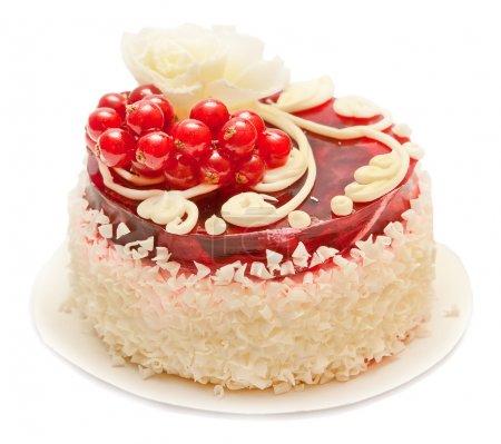 Photo pour Gâteau isolé sur fond blanc - image libre de droit