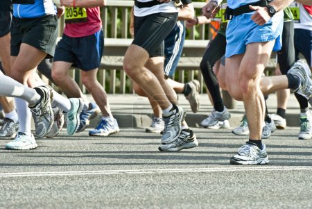 Photo pour Marathoniens - image libre de droit