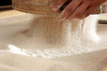 Photo for Prepared for the construction of pastry and bread flour - Royalty Free Image