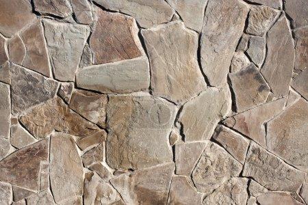 Photo pour Texture de mur de pierre pour le fond - image libre de droit
