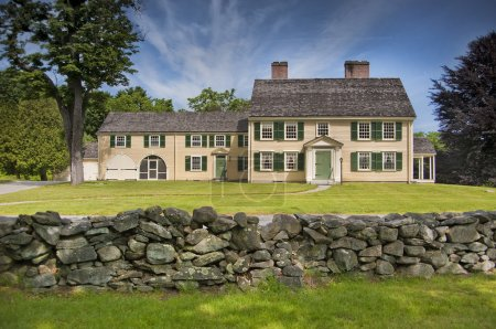 Colonial house in New England
