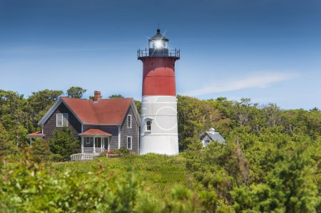 Photo for Nauset lighthouse in Eastham, Cape Cod, Massachusetts, USA - Royalty Free Image