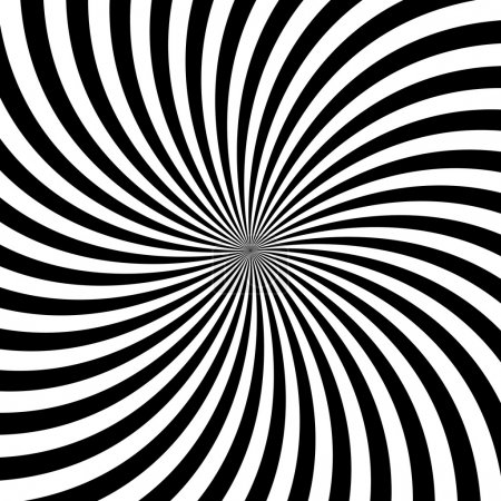 Black and white hypnotic background illustration
