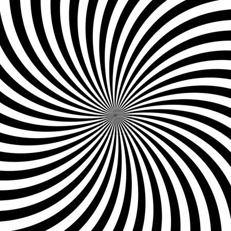Photo for Black and white hypnotic background illustration - Royalty Free Image