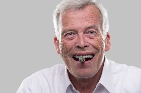 Happy Smoking Senior