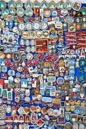 Photo pour Tas de médailles vintage - image libre de droit