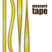 Measure tapes in different positions isolated on white background vector illustration