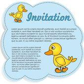 Invitation Card with ducks