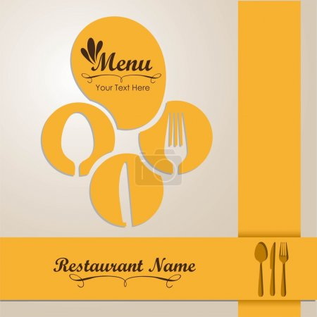 Elegant card for restaurant menu