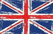 London grunge flag vector illustration