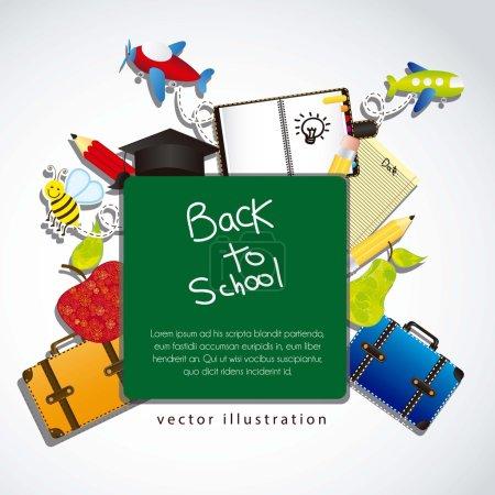 illustration back to school