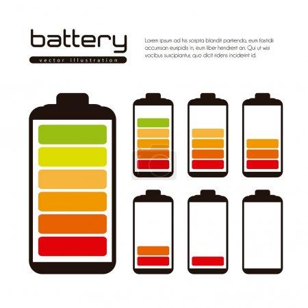 Illustration pour Illustration de charge de batterie isolée sur fond blanc, illustration vectorielle - image libre de droit