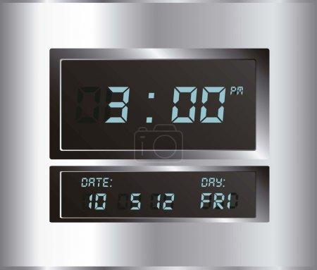 illustration of digital clock