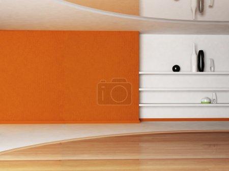 Photo pour Scène de la décoration intérieure avec les étagères - image libre de droit
