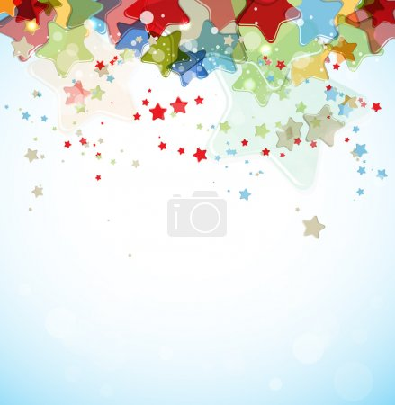 Abstract color stars vector background