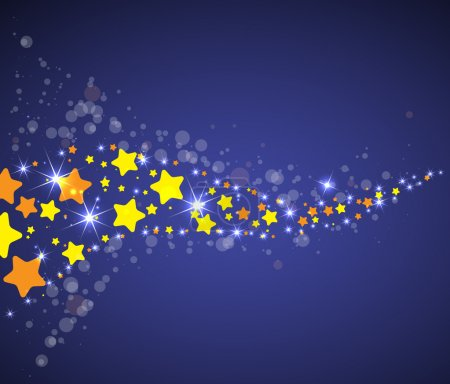 Illustration for Abstract space vector background with color star way - Royalty Free Image
