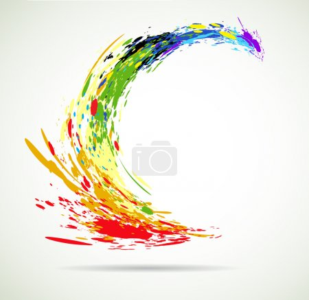 Color grunde paint flying splashes for background vector