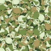 Vector Seamless skull camouflage pattern