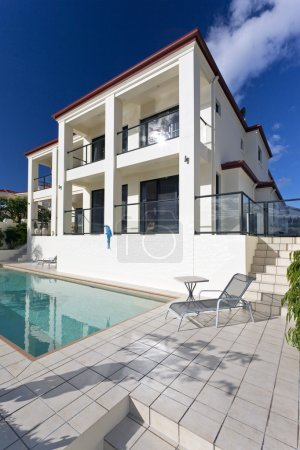 Photo for Two storey luxury house with swimming pool - Royalty Free Image