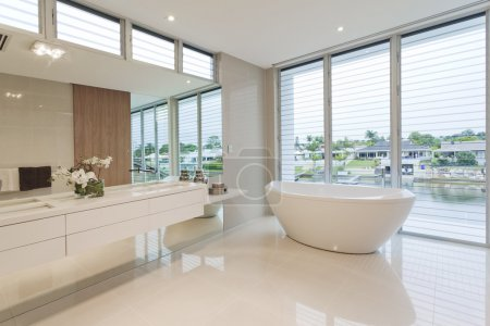 Photo for Modern bathroom in luxury Australian house - Royalty Free Image