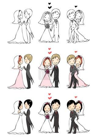 belle mariée et marié