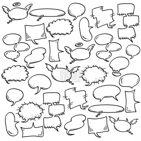 Illustration for Hand draw speech bubbles - Royalty Free Image