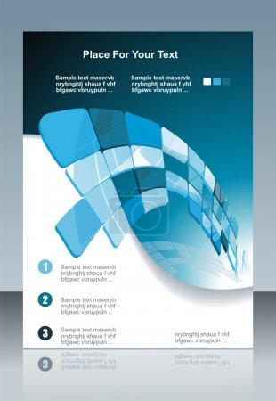 Foto de Bandera azul tecnológica. ilustración vectorial - Imagen libre de derechos