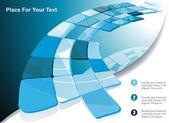 Blue technological banner Vector illustration